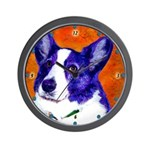 Welsh Corgi Wall Clock