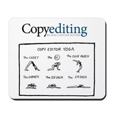Copy Editor Yoga Mousepad