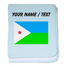 Custom Djibouti Flag baby blanket