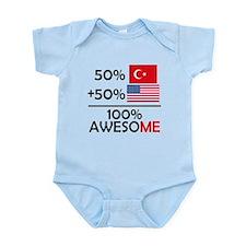 Half Turkish Half American Body Suit