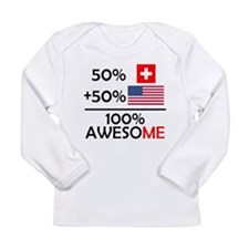 Half Swiss Half American Long Sleeve T-Shirt
