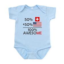 Half Swiss Half American Body Suit