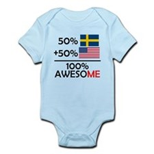 Half Swedish Half American Body Suit
