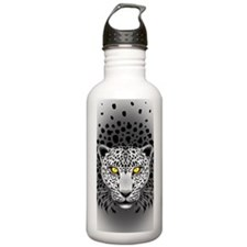 White Leopard with Yellow Eyes Water Bottle