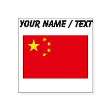 Custom China Flag Sticker