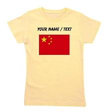 Custom China Flag Girl's Tee