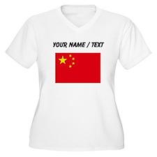 Custom China Flag Plus Size T-Shirt