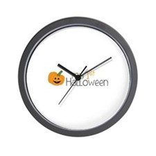 my 1st Halloween Wall Clock