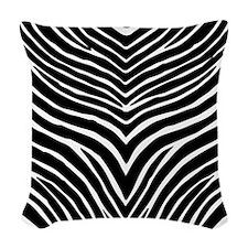 Zebra Print Woven Throw Pillow