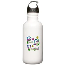 Peace Love Volleyball Water Bottle