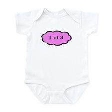 Funny Triplet 1 of 3 P Baby Bodysuit