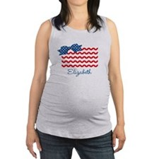 Girly Rick Rack Flag Maternity Tank Top