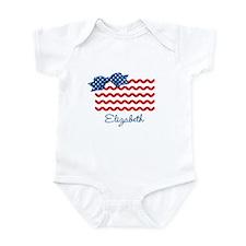 Girly Rick Rack Flag Infant Bodysuit