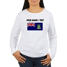 Custom British Virgin Islands Flag Long Sleeve T-S