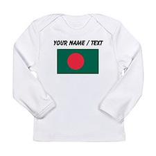 Custom Bangladesh Flag Long Sleeve T-Shirt