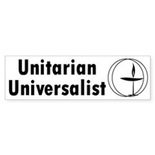 UNITARIAN Bumper Car Sticker