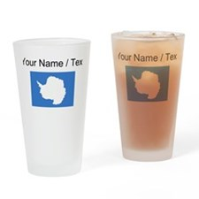 Custom Antarctica Flag Drinking Glass
