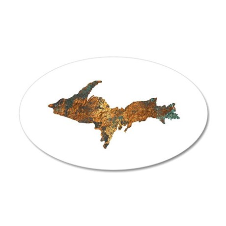 Raw Float Copper Wall Decal