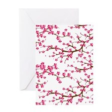 Cherry Blossom Flowers Greeting Cards