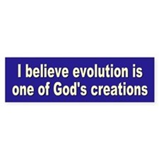 EVOLUTION Bumper Bumper Sticker