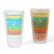 Aztec Flower Garden Tangle Drinking Glass