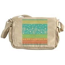 Aztec Flower Garden Tangle Messenger Bag