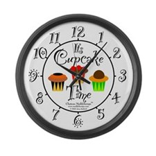 Cupcake Time Large Wall Clock