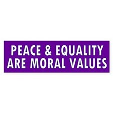 PEACE & EQUALITY Bumper Bumper Sticker