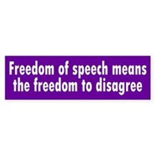 FREEDOM OF SPEECH Bumper Bumper Sticker