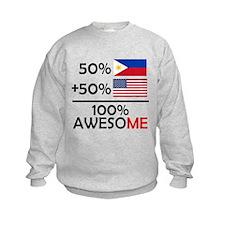 Half Filipino Half American Sweatshirt