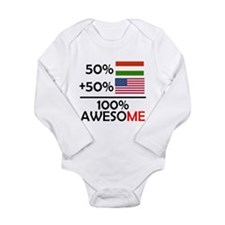 Half Hungarian Half American Body Suit