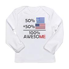 Half Greek Half American Long Sleeve T-Shirt