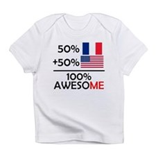Half French Half American Infant T-Shirt