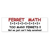Ferret Math Bumper Bumper Sticker