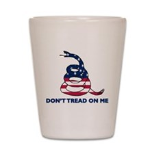 Dont Tread on Me Gadsen Shot Glass