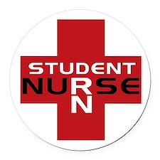 Cute Student nurse Round Car Magnet