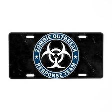 Zombie Outbreak Response Aluminum License Plate