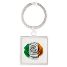 Irish Rose Flag on White Keychains