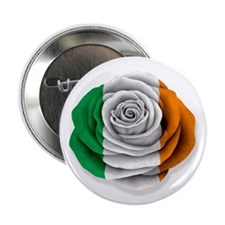 "Irish Rose Flag on White 2.25"" Button (10 pack)"