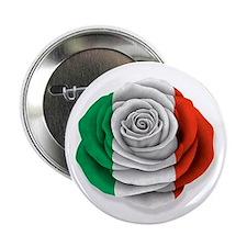 """Italian Rose Flag on White 2.25"""" Button (100 pack)"""