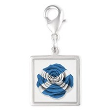 Scottish Rose Flag on White Charms