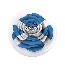 """Scottish Rose Flag on White 3.5"""" Button (100 pack)"""
