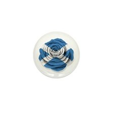 Scottish Rose Flag on White Mini Button (100 pack)