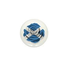Scottish Rose Flag on White Mini Button (10 pack)
