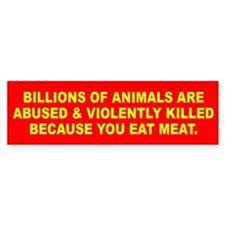 ANIMALS KILLED Bumper Bumper Sticker