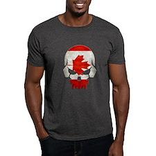 Canadian Flag Skull T-Shirt