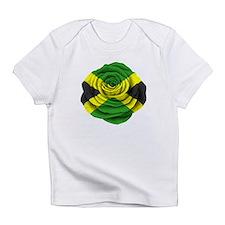 Jamaican Rose Flag on Pink Infant T-Shirt