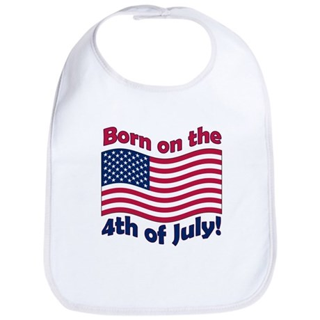 Born on July 4th Bib