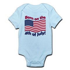 Born on July 4th Infant Bodysuit