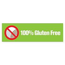 100% Gluten Free Bumper Bumper Sticker